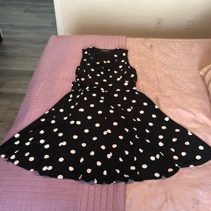 Ralph Lauren Polka Dot A Line Dress